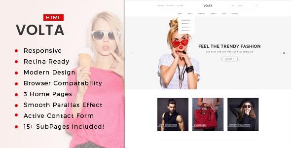 Volta : Minimal Shopping HTML5 Template - Fashion Retail