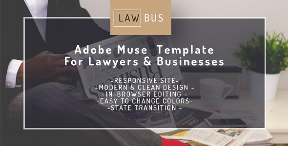 LAWBUS- Adobe Muse Theme  For Lawyers & Businesses - Corporate Muse Templates