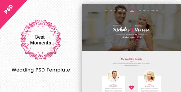 Best Moments - Mordern Wedding PSD Template - Miscellaneous Photoshop