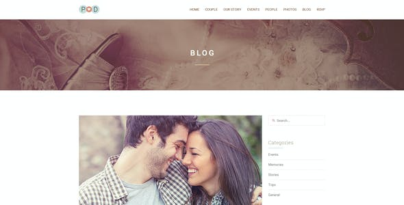 Forever | Wedding PSD Template