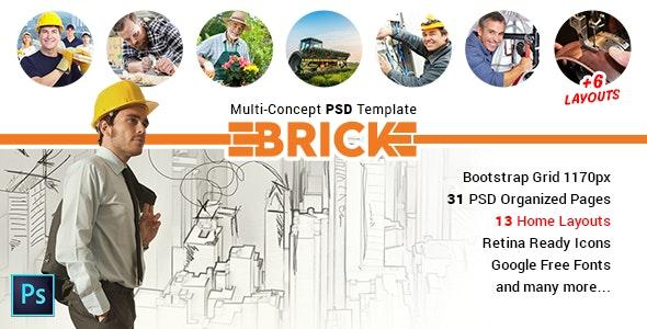 Brick - Multi Concept PSD Template - Corporate Photoshop