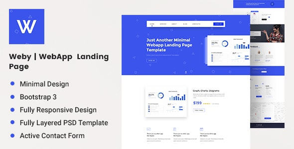 Weby | WebApp Landing Page - Software Technology