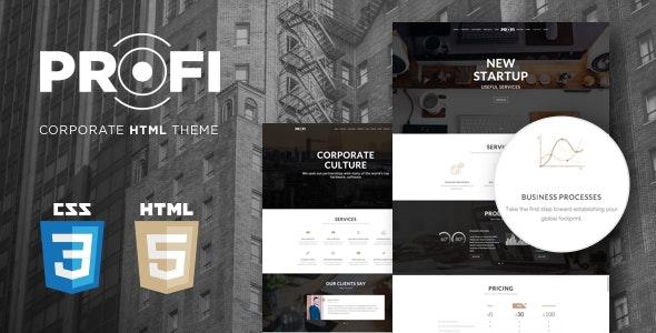 Profi - Multipurpose Corporate HTML Template - Business Corporate