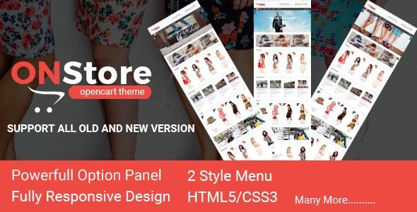 ONStore Responsive OpenCart Theme - Fashion OpenCart