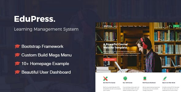 Bootstrap and Lms HTML Website Templates from ThemeForest