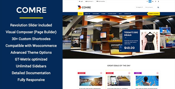 Comre - Coupon Codes & Affiliates WordPress Theme - Directory & Listings Corporate