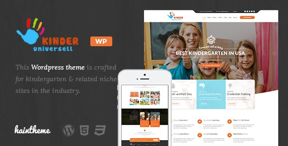 Kinder - Kindergarten & School WordPress Theme - Education WordPress