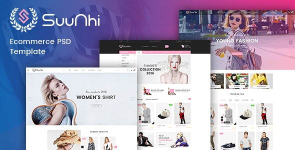 Suunhi - eCommerce PSD Template - Retail Photoshop