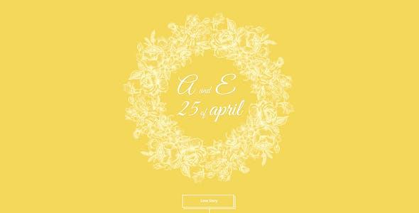 Adam & Eve – Wedding Day & Love Story PSD Theme