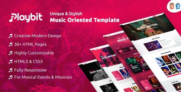 Playbit - Bootstrap Music Template
