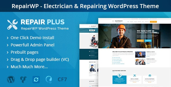 RepairWP - Electronices, Mobile & Computer Repairing WordPress Theme - Business Corporate