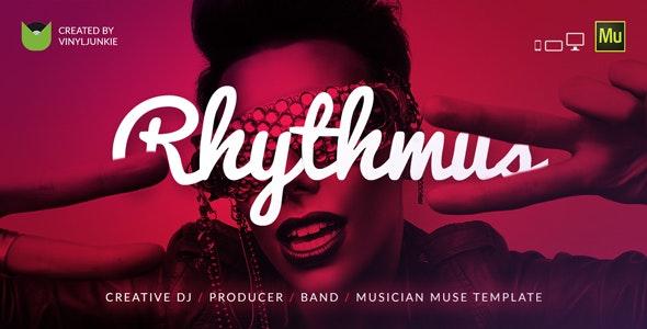 Rhythmus - Creative DJ / Producer / Musician Site Muse Template - Personal Muse Templates