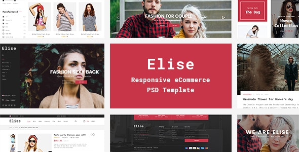 Elise - A Genuinely Multi-Concept Ecommerce Theme - Retail PSD Templates