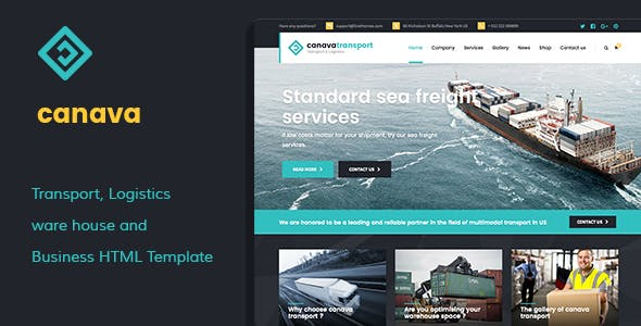 Canava - Logistics and Business HTML Template
