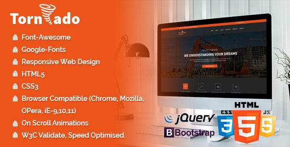 Tornado Pack - Multi Landing Pages - Business Corporate