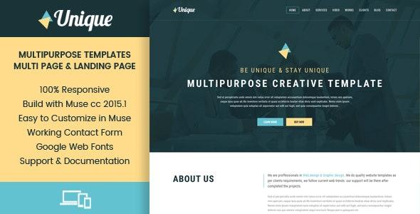Unique - Corporate Multipurpose Muse Templates - Corporate Muse Templates