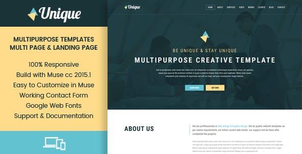 Unique - Corporate Multipurpose Muse Templates