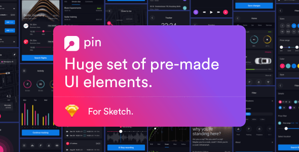 Pin UI Kit: Huge Set of UI Components - Sketch Templates