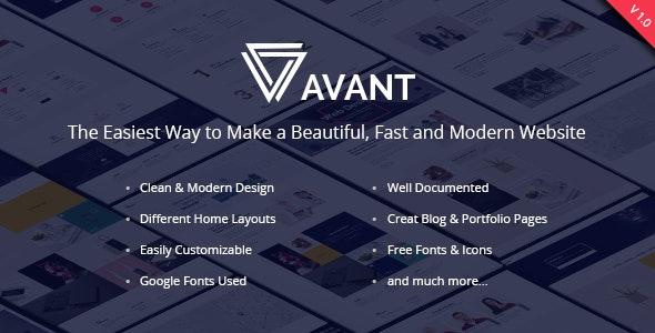 Avant - Creative & Multipurpose - Creative Photoshop