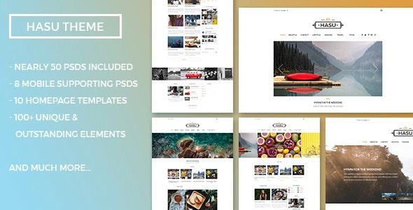 HASU Multi-Purpose Blog Magazine PSD Template - PSD Templates