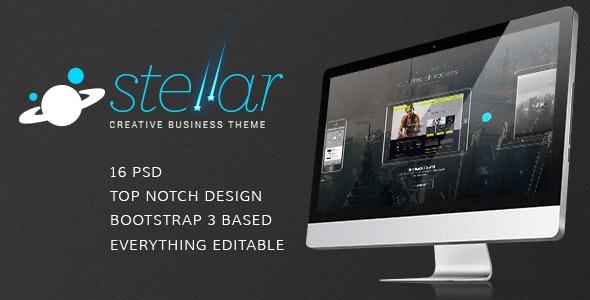 Stellar  - PSD Creative or Corporate Template - Creative Photoshop