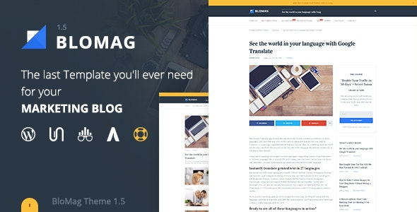 BloMag WordPress Theme - Exclusively for Marketers - Blog / Magazine WordPress