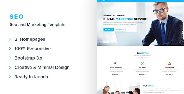 SEO - SEO and Marketing Responsive Template - Marketing Corporate