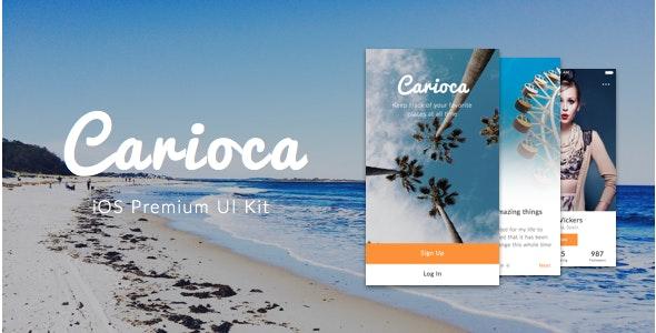 Carioca - Premium iOS UI Kit - Sketch Templates
