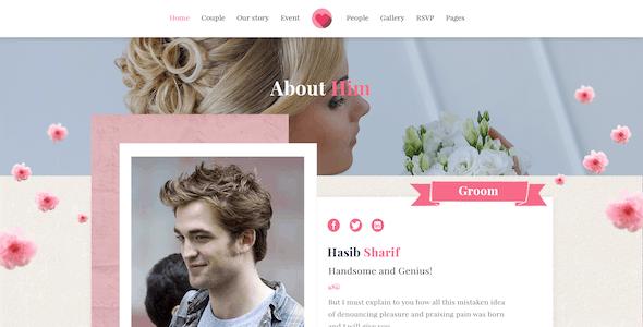 Forever Love | Elegant Wedding & Agency PSD Template
