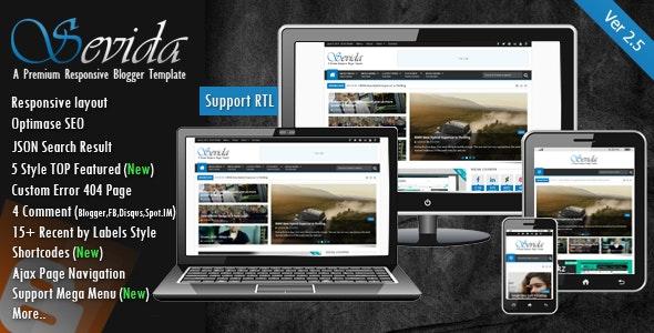 Sevida - Responsive Magazine Blogger Template - Blogger Blogging