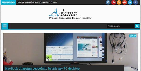 Adamz - Responsive Blogger Template