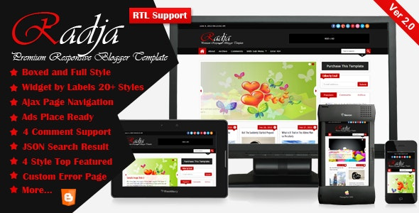 Radja - Responsive Blogger Template - Blogger Blogging
