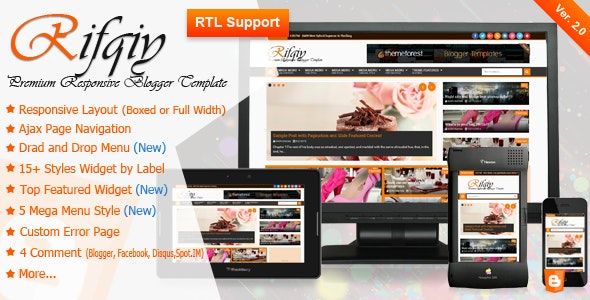 Rifqiy - Responsive Magazine/News Blogger Template - Blogger Blogging