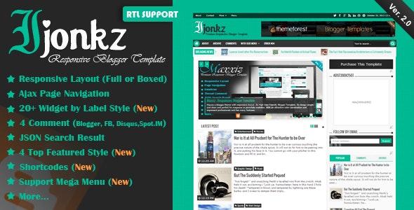 Ijonkz - Responsive Magazine/News Blogger Template - Blogger Blogging