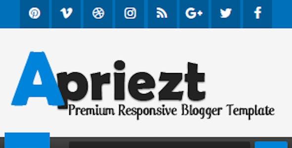 Apriezt - Responsive Magazine/News Blogger Theme