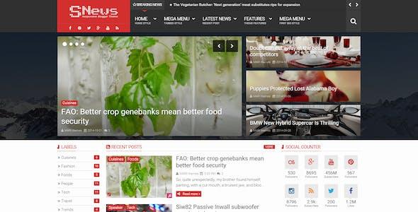 SNews - News/Magazine Responsive Blogger Theme
