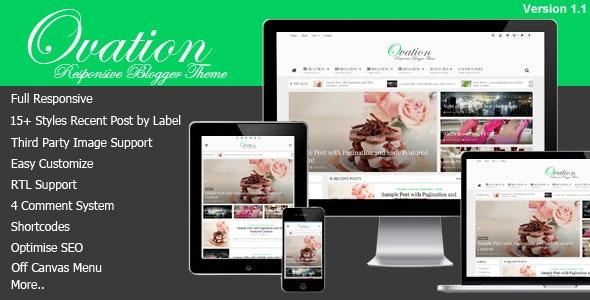 Ovation - News/Magazine Responsive Blogger Theme  - Blogger Blogging
