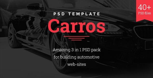 Carros — Auto Service / Tuning Center / Parts Retailer PSD Template - Business Corporate