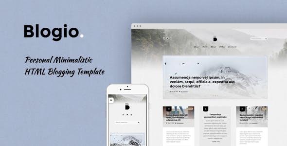 Blogio Personal Minimalistic HTML Blogging Template