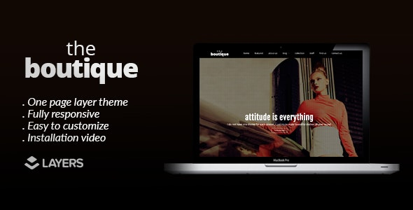 The Boutique - Layers One Page WordPress Theme - Fashion Retail