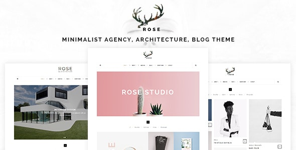 Rose - Minimalist Agency, Architecture, Blog Template - Portfolio Creative