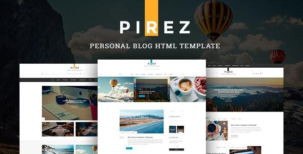 PIREZ - Blogging HTML Template - Personal Site Templates