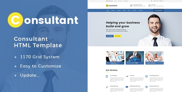 Consultant - Multipurpose Corporate Template - Corporate Site Templates