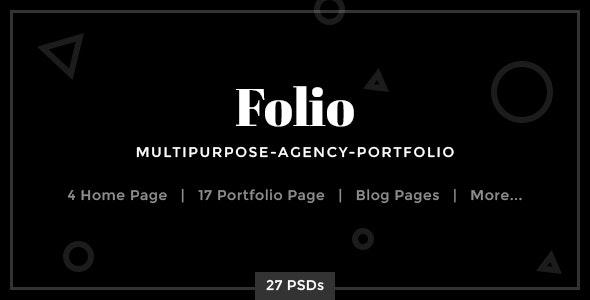 Folio - Multipurpose-Agency-Portfolio PSD Template - Portfolio Creative