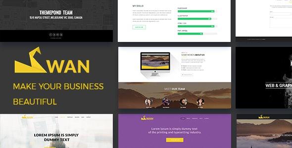 SWAN Company Portfolio Multi-purpose PSD Template - Photoshop UI Templates