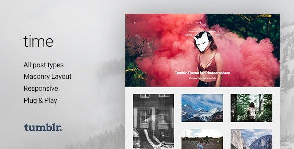 Time | Photography Grid Tumblr Theme - Portfolio Tumblr