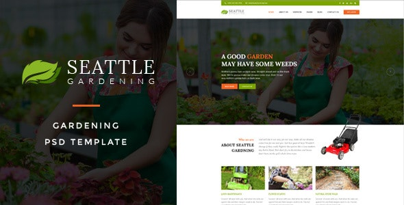 Seattle : Gardening PSD Template - Business Corporate