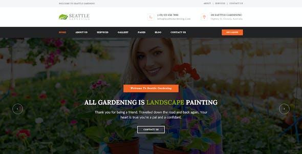 Seattle : Gardening PSD Template