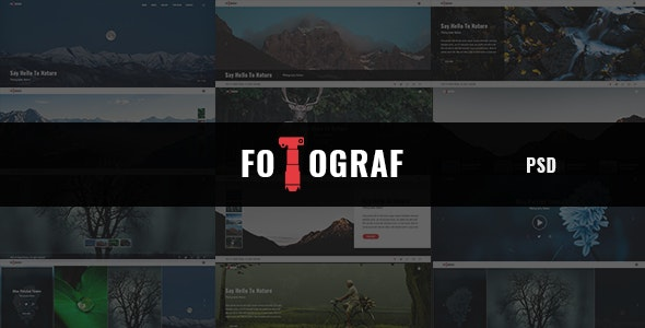 Fotograph - Portfolio and Photography PSD Template - Photography Creative