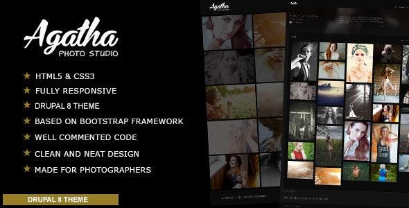 Agatha - Photography Portfolio Drupal 8 Theme - Photography Creative